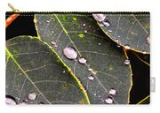 Water Drops Leaves Carry-all Pouch