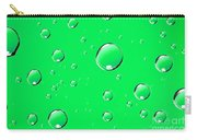 Water Drops On Green Carry-all Pouch