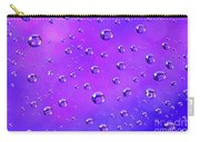 Water Drops On Purple And Blue Carry-all Pouch