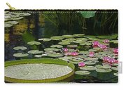 Water Lilies And Platters And Lotus Leaves Carry-all Pouch