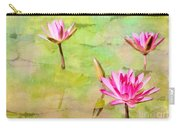 Water Lilies Inspired By Monet Carry-all Pouch