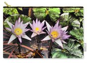 Water Lilies Water Drop And Reflection In Water Carry-all Pouch