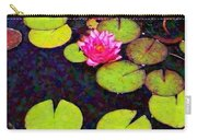 Water Lilies With Pink Flowers - Vertical Carry-all Pouch