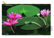 Water Lillies In Pink Carry-all Pouch