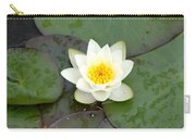 Water Lily - White Carry-all Pouch