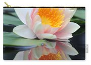 water lily 45 Water Lily with Reflection Carry-all Pouch