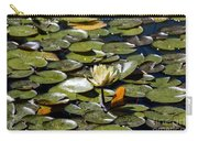 Water Lily And Bees Carry-all Pouch