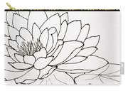 Water Lily Line Drawing Carry-all Pouch