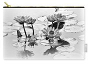 Water Lily Study - Bw Carry-all Pouch
