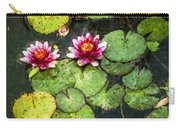 Water Lily Water Color Carry-all Pouch