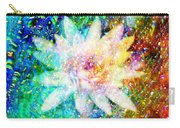 Water Lily With Iridescent Water Drops Carry-all Pouch