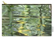 Water Reflection Green And Yellow Carry-all Pouch by Dan Sproul