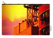 Water Tower With Orange Sunset Carry-all Pouch