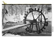 Water Wheel In Snow Carry-all Pouch