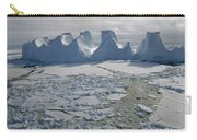 Water Worn Iceberg In Sea Ice Lazarev Carry-all Pouch