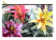 Watercolor And Ink Sketch Of Colorful Bromeliads Carry-all Pouch