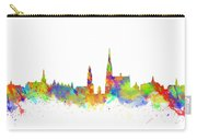 Watercolor Art Print Of The Skyline Of Antwerp In Belgium Carry-all Pouch
