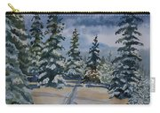 Original Watercolor - Colorado Winter Pines Carry-all Pouch