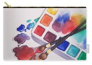 Watercolor Drops Carry-all Pouch