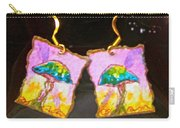 Watercolor Earrings Vibrant Mushrooms Carry-all Pouch