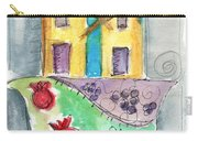 Watercolor Hamsa  Carry-all Pouch by Linda Woods