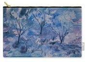 Watercolor - Icy Winter Landscape Carry-all Pouch