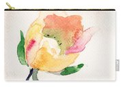 Watercolor Illustration With Beautiful Flower  Carry-all Pouch