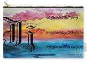 Watercolor J And Serenity Prayer Carry-all Pouch