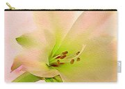 Watercolor Lily Bloom Carry-all Pouch