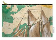 Watercolor Map 1 Carry-all Pouch by Debbie DeWitt