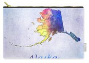 Watercolor Map Of Alaska      United States Carry-all Pouch