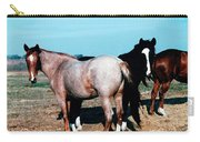 Watercolor Mustangs Carry-all Pouch