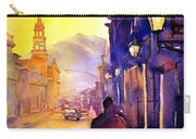Watercolor Painting Of Street And Church Morelia Mexico Carry-all Pouch