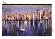 Watercolor Painting Of Vancouver Skyline Carry-all Pouch