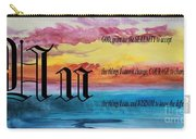 Watercolor U And Serenity Prayer Carry-all Pouch
