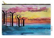 Watercolor V And Serenity Prayer Carry-all Pouch