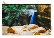 Waterfall At Cliff Side Carry-all Pouch
