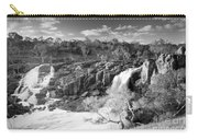 Waterfall Black And White Carry-all Pouch