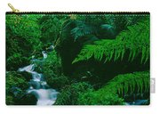 Waterfall In A Forest, Dartmoor, Devon Carry-all Pouch