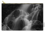 Waterfall In Black And White Carry-all Pouch by Bill Gallagher