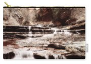 Waterfall In Sepia Carry-all Pouch