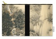 Waterfall In Spring And Autumn Carry-all Pouch