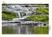 Waterfall In The Forest In Autumn Season  Carry-all Pouch