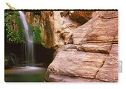 Waterfall Rushing Through The Rocks Carry-all Pouch