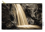 Waterfall Stowe Vermont Sepia Tone Carry-all Pouch