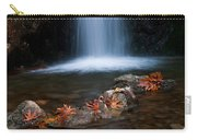 Waterfall And Leaves In Autumn Carry-all Pouch
