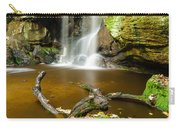 Waterfall With Autumn Leaves Carry-all Pouch