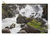 waterfalls in Pre Saint Didier Carry-all Pouch