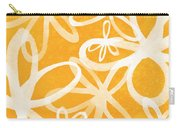 Waterflowers- Orange And White Carry-all Pouch by Linda Woods