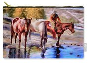 Watering The Horses Carry-all Pouch